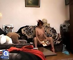 Spy cam took the shots of a changing milf